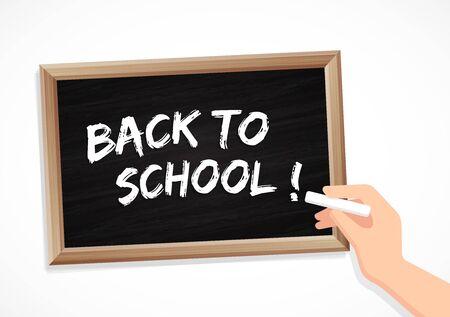 Back to school - chalk and blackboard
