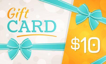 Gift Card, gift voucher - 10 dollars Standard-Bild