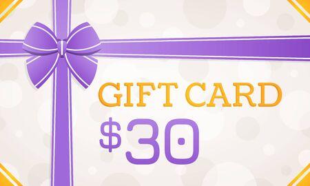 Gift Card, gift voucher - 30 dollars