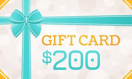 Gift Card, gift voucher - 200 dollars Standard-Bild