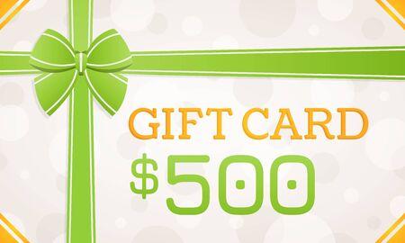 Gift Card, gift voucher - 500 dollars Standard-Bild