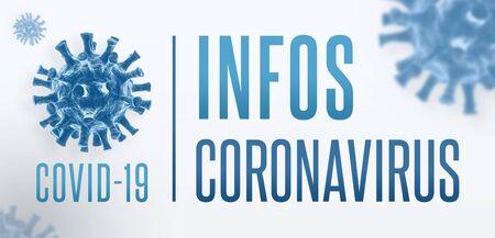 Bannière Coronavirus COVID-19 en français