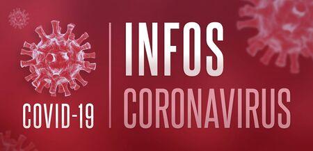 Coronavirus COVID-19 banner in french