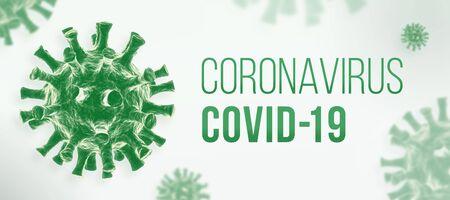 Coronavirus COVID-19 banner Foto de archivo