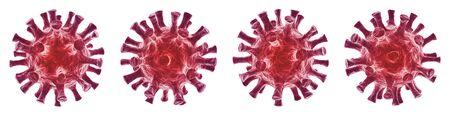Virus isolated on white background - 3D Virology and Microbiology - Coronavirus COVID-19 concept Standard-Bild