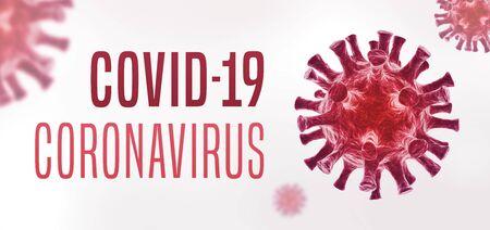 Coronavirus COVID-19 banner Standard-Bild