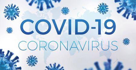 Coronavirus COVID-19 banner - Worldwide epidemic concept Standard-Bild