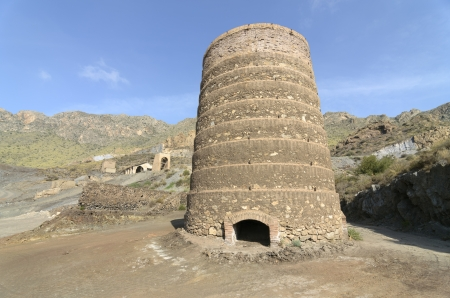 calcining kiln in Old abandoned ruined mines