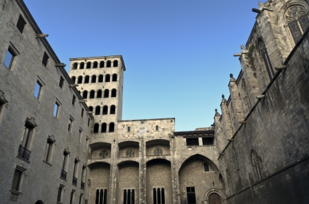 gotico: Square Plaza del Rei King s, en el coraz�n del Barrio G�tico Barrio G�tico de Barcelona, ??Catalu�a, Espa�a