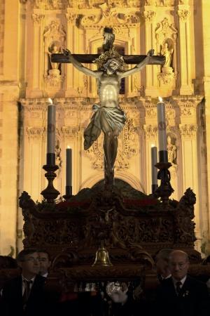 cristo: Velez-Rubio, Almeria  Spain, April 04. Procession of Cristo del Perdon in Velez-Rubio on April 04, 2012