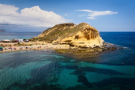 Cocedores beach in Murcia near Aguilas at Mediterranean sea of spain Imagens