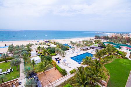khaima: Al Hamra beach, a view from Al Hamra Beach Resort March 01, 2017 Editorial