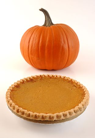 High-Key Pumpkin and Pie Stock Photo - 5536956