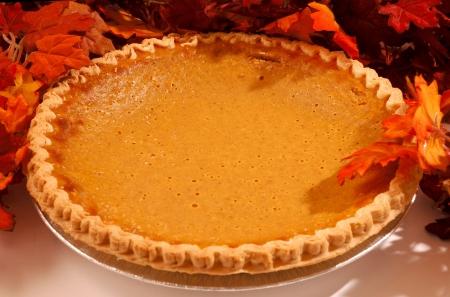 焼きたてのカボチャのパイ