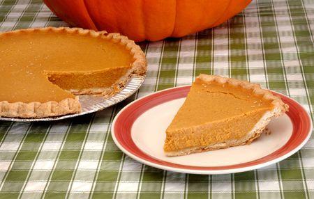 Festive Autumn Dessert Slice on Table Stock Photo - 5645022