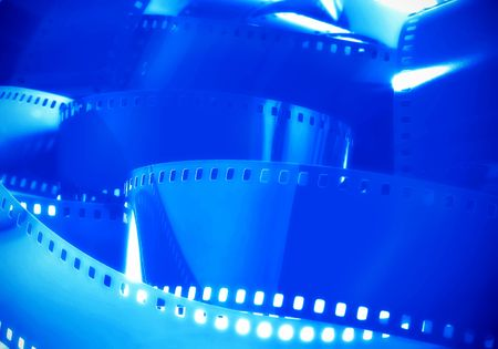35mm: Blue 35mm Film Stock Photo