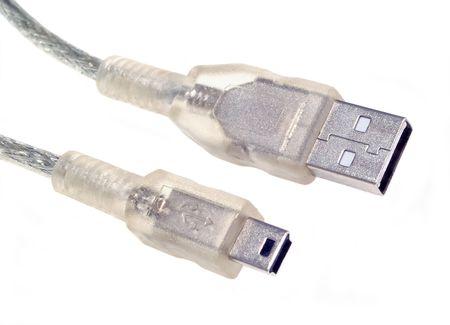USB Cable Connection Banco de Imagens