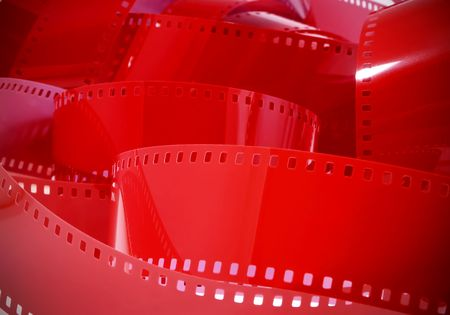 Red Film Background