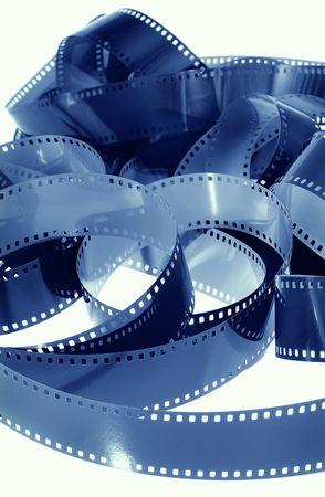 Blue 35mm Film Strip
