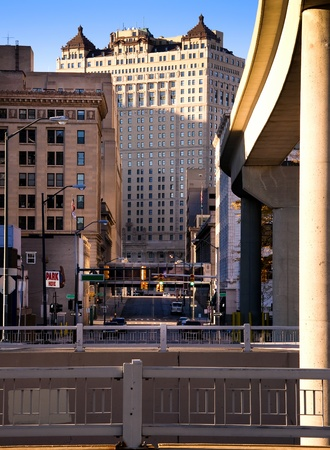 Downtown Detroit Streets Editorial