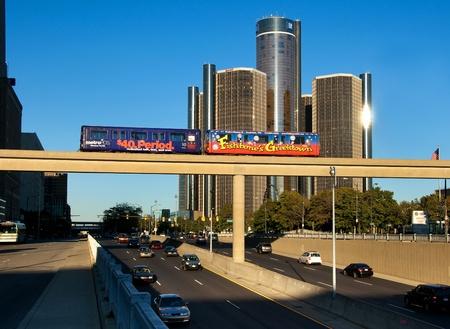 Centre-ville de Detroit et de transit Banque d'images - 10838833