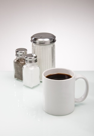 Counter Condiments with Coffee photo