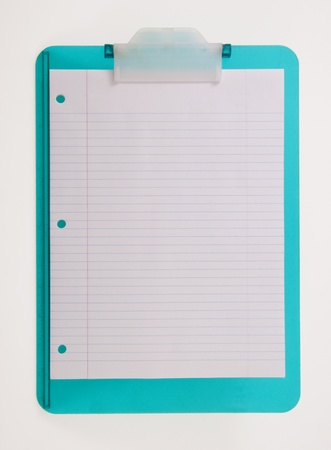 Blue Clipboard with Blank Paper Stock Photo - 11464249
