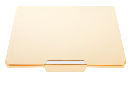 Manilla File Folder Stock Photo
