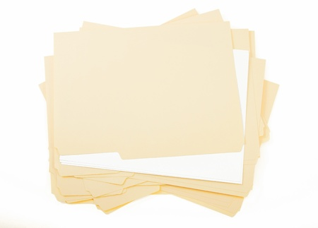 Stack of Manilla File Folder