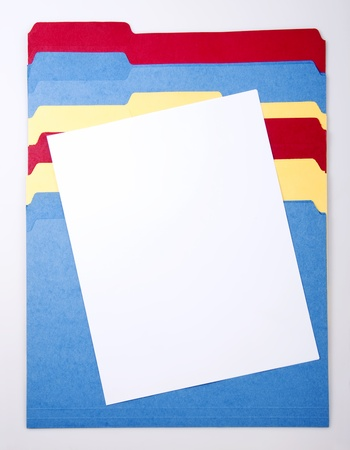 Blank Paper and Colorful Files