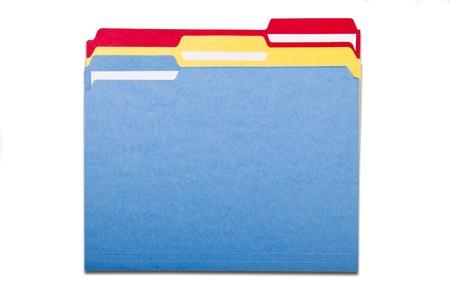 カラフルなファイル フォルダー