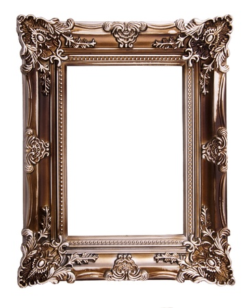 picture framing: Blank Picture Frame Stock Photo