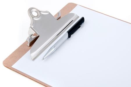 Ink Pen on Clipboard Stock Photo - 11464210