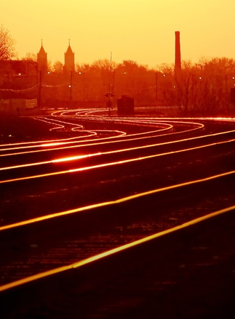 mainline: Dawn on Detroit Mainline Tracks