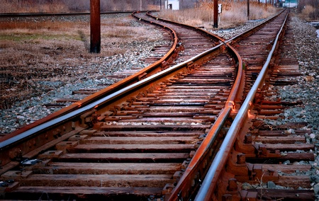 railway transportations: Railroad Track Switch