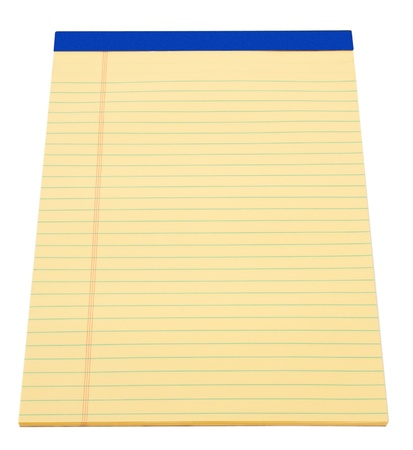 Blank yellow paper legal note pad photo