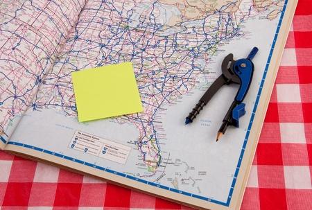 Planning vacation trip radius and budget Stock Photo - 12379894
