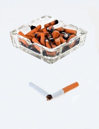 Breaking the smoking habit Фото со стока
