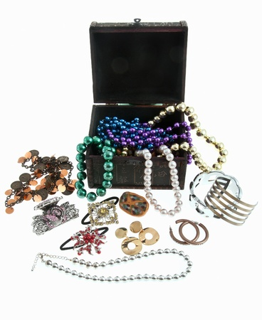 Jewelry box chest for valuable pieces of  gold and silver Stock Photo - 15819932