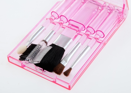 Make up brushes Kit for touch-ups on the run Stock Photo - 15847167