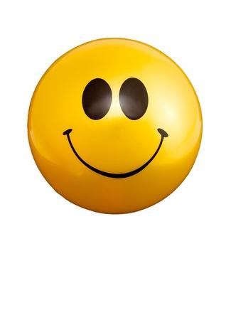smile: Smiley feliz bola cara de buenas noticias Foto de archivo