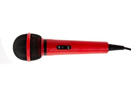 kareoke: Inexpensive Microphone in red