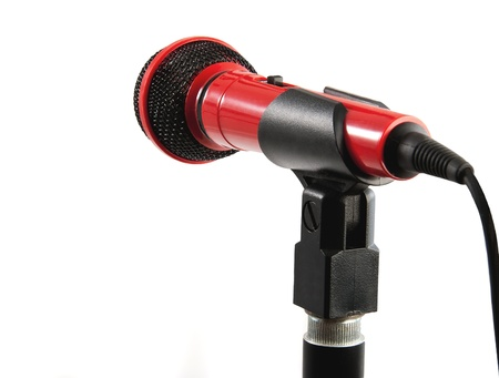 kareoke: Stage Mic on stand for singer