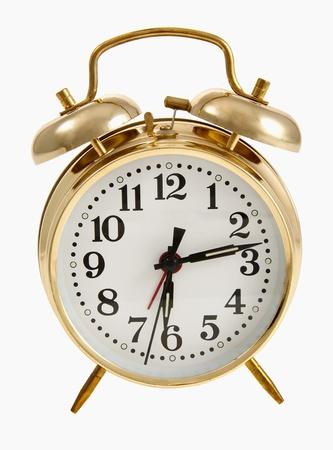 Wind-up alarm clock with bells