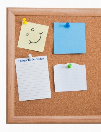 Full board of notes and to-does blank Stock Photo - 15853027