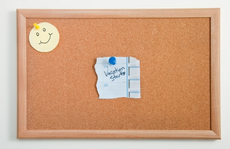 Happy day note board with vacation calendar Stock Photo - 15853034