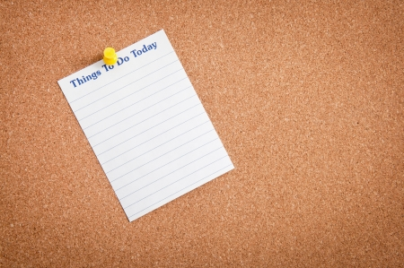 Shopping and to-do list notes Stock Photo - 15853703