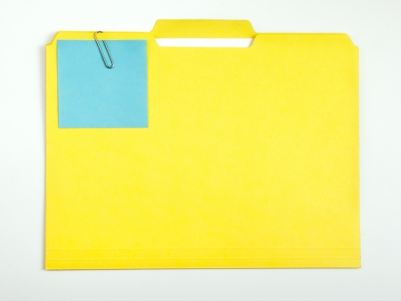 Color note papers for reminder on folder photo