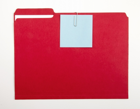 Color note papers for reminder on folder Archivio Fotografico