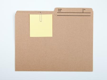 Color note papers for reminder on folder Banque d'images